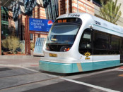 Phoenix Light Rail in front of Convention Center