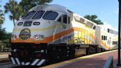 SunRail train leaving Winter Park Station by Artystyk386 from Wikimedia Commons